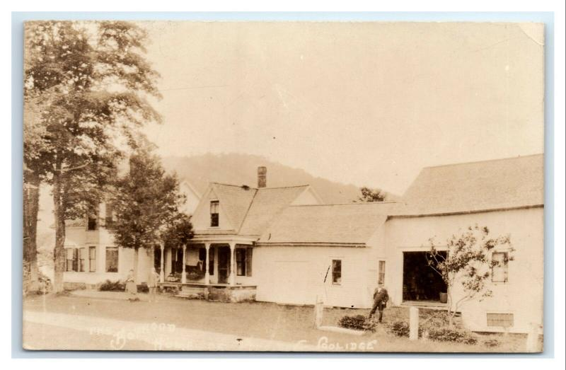 Postcard Coolidge Home Plymouth, VT 1926-1940's RPPC I12