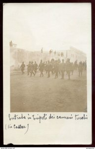 dc1167 - LIBYA Tripoli 1911-12 Italo-Turkish War. Military Soldiers. Real Photo