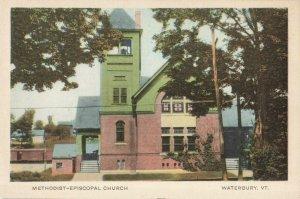 Postcard Methodist Episcopal Church Waterbury Vermont