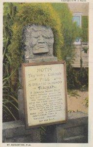 Seminole Indian TOLOMATO Memorial , ST. AUGUSTINE , Florida , 1910s
