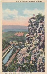 Ohio Cumberland View Of Lovers Leap And The narrows 1652 Feet Above Sea Level