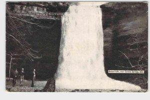 PPC POSTCARD ARKANSAS GRAND FALLS NEAR EUREKA SPRINGS WATER FALL CANCEL 1910