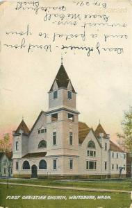 WA, Waitsburg, Washington, First Baptist Church,Sprouse and Son No. 125518