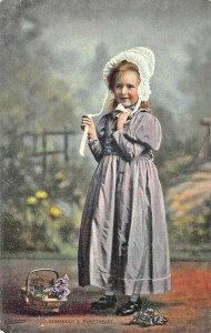 Raphael Tuck & Sons Little Darlings Somebody's Sweetheart #4718 Postcard