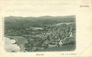 suriname, BERG EN DAL, Panorama (1899) C. Kersten & Co.
