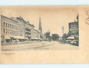 Pre-1907 STREET SCENE Northampton Massachusetts MA W2402