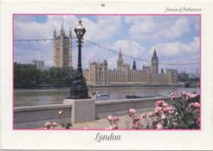 Houses of Parliament, London, used Postcard