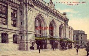 N.Y.C. & H.R. RAILROAD DEPOT ALBANY, NY 1912