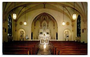 1958 Mount St. Mary Chapel Interior, Kenmore, NY Postcard