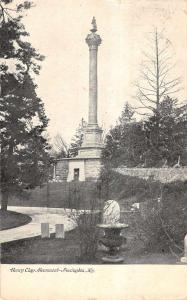 Lexington Kentucky Henry Clay Monument Street View Antique Postcard K12397