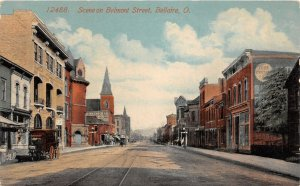 G98/ Bellaire Ohio Postcard c1910 Belmont Street Stores Delovery Wagon 26