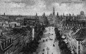 Belgium Anvers Avenue de Keyser Street Panorama Postcard