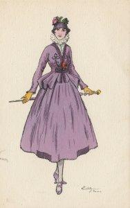 ART DECO ; EDY (Paris) ; Female Fashion portrait #4, 1916