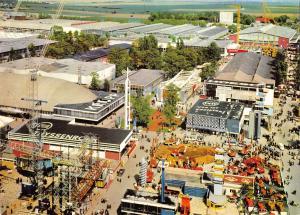 GG12664 Hannover Messe Blick vom Hermesturm Teil des Messegelaendes