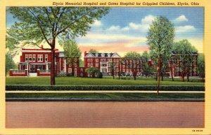 Ohio Elyria memorial Hospital and Gates Hospital For Crippled Children Curteich