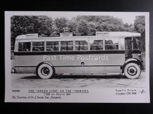 Bus THE GREENLINE IN THE THIRTIES T220 ROUTE BM Pamlin Print RP Postcard M2430