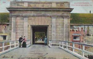 Virginia Fortress Monroe Main Entrance 1909