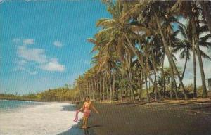Hawaii Big Island Of Hawaii Black Sand Beach
