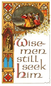 Christmas  Wise Men , Co Advertising sale of Postcards