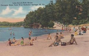 Wets Virginia Berkeley Springs Cacapon State Park Lake Beach and Bath House 1958