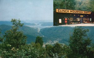 Bean Station, TN, Clinch Mountain Crafts, Cherokee Lake, Vintage Postcard h3861