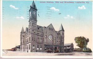 Union Station, 10th and Broadway, Louisville Kentucky