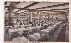 SAN FRANCISCO, California, 1900-1910´s; Portola-Louvre, Partial View Of Cafe...