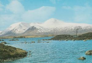 Black Mount Argyll In Winter Clach Leathad from Glencoe Road Rare Postcard
