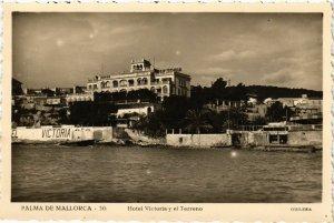 CPA Espagne Palma de Mallorca-Hotel Victoria y el Terreno (317895)