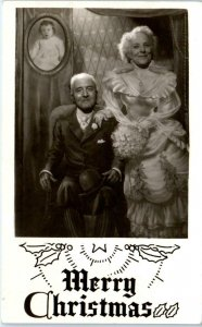 RPPC  STUDIO PHOTO Merry Christmas XMAS CARD 1949 The Chisholms Vallejo Postcard