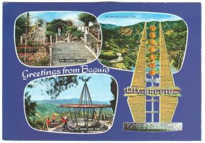 Republic of the Philippines, Greetings from Baguio, used Postcard