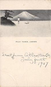 Honahu Island~Fuji Yama Japan~Japanese Artwork c1906 Postcard?