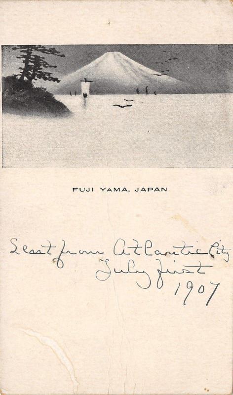 Honahu Island~Fuji Yama Japan~Japanese Artwork c1906 Postcard?