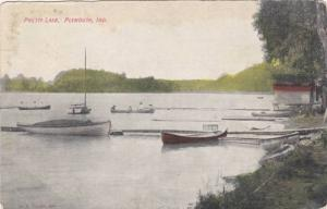 Boats along a Pretty Lake, Plymouth, Indiana, 1900-1910s