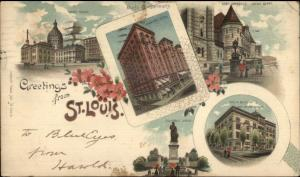 St. Louis MO Multi-View 1906 Used Postcard Private Mailing Card