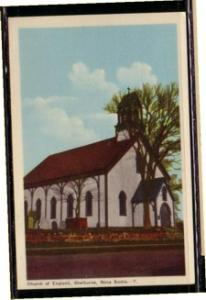 Colour Linen era PC Church of  England, Shelburne, NS unused