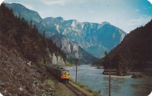 Train, Canadian National Railways Super Continental, Hell's Gate,  B.C.,  C...