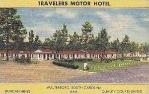 South Carolina Walterboro Travelers Motor Hotel