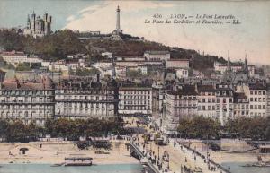 Le Pont Lafayette, La Place Des Cordeliers Et Fourviere, Lyon (Rhone), France...