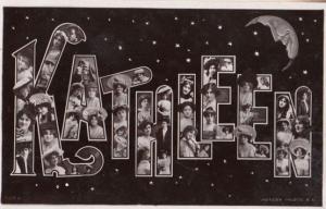A Girls Named Called KATHLEEN Antique Name Postcard