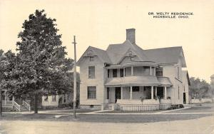 Hicksville Ohio~Dr FS Welty Residence~Member Eclectic Medical Assn~1910 Postcard