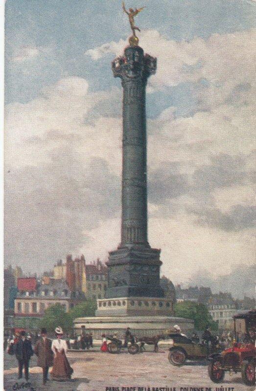 PARIS, France, 1900-10s;Place De La Bastille , Colonne De Juillet, TUCK 125 No93