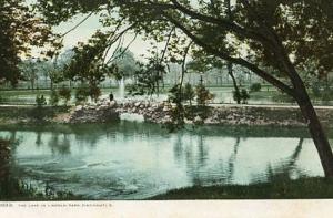 OH - Cincinnati, The Lake in Lincoln Park
