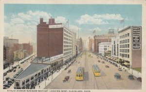 CLEVELAND, Ohio , 1900-10s; Euclid Avenue Business Section, Trolleys