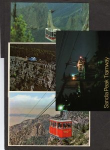 NM Lot 4 Sandia Peak Tram Tramway ALBUQUERQUE NEW MEXICO Postcards  Postcards