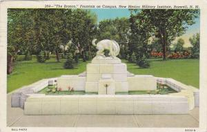 The Bronco, Fountain on Campus, New Mexico Military Institute, Roswell, New...