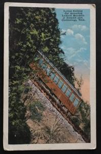Incline Railway Car Ascending Lookout Mountain Chattanooga Tenn DR Weill 10540