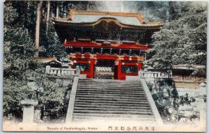 Nikko, Japan Postcard Temple of Sandai-Shogun Hand-Colored c1920s Unused