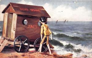 Raphael Tuck At The Seaside, in Dollyland Peeping Tom Postcard