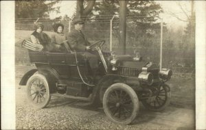 Early Car Auto Automobile RI License Plate 7730 Real Photo Postcard c1910